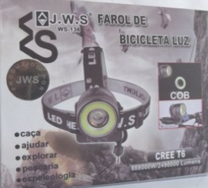 Promocao Lanterna Farol Bike 2490000 Lumens Potente Ws136
