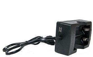 1 Carregadores 26650 Duplo com Fio + 2 Baterias JWS Dourada 26650