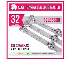 32lb550b 32lb560b Lb570b 32lb580 32lb5600 Kit 3 Barras Novas