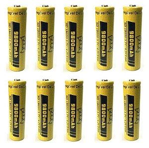 Kit 10 Baterias jyx 18650 9800Mah Top 2019