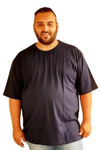 Camiseta Básica Masculina  Plus Size Algodão BIGMEN