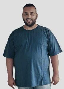 Camiseta Básica Masculina  Plus Size Algodão