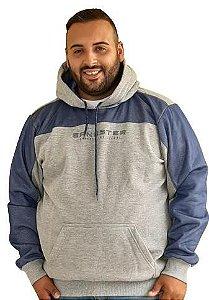 Casaco Capuz de Moletom Plus Size Masculina Gangster