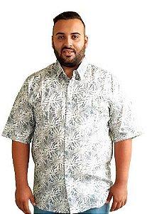 Camisa Estampada  Algodão Masculina Plus Size
