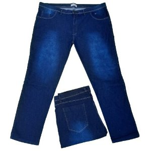 Calça Masculina Plus Size com Elastano Jeans Azul
