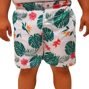 Short Praia Tactel Masculino Plus Size