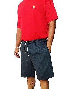 Bermuda Masculina Plus Size Cós Elástico Moletom BigMen