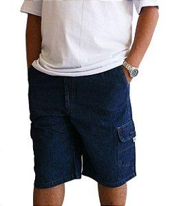 Bermuda Masculina Plus Size Cós Elástico Jeans