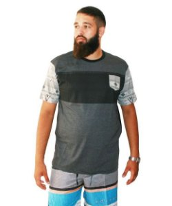 Camiseta Masculina Plus Size Gangster Estampa Étnica