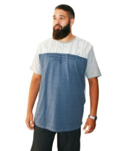 Camiseta Plus Size Masculina Long Line Gangster