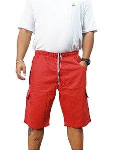 Bermuda Masculina Plus Size Cós Elástico Oncross Co
