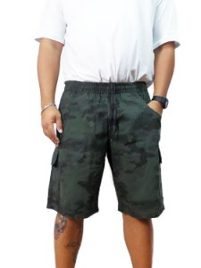 Bermuda Plus Size Masculina Camuflada Cós Elástico Oncross