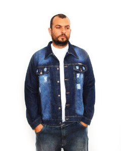 Jaqueta Destroyed Plus Size Masculina Oncross Bigmen