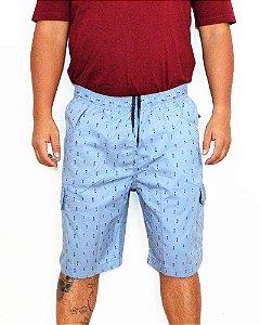 Bermuda Plus Size Masculina Sarja Flechas Oncross Bigmen