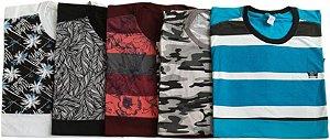 Kit 5 Camisas Sortidas Plus Size Masculina Queima de estoque sem troca
