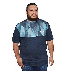 Camiseta Plus Size Masculina Diamante Azul