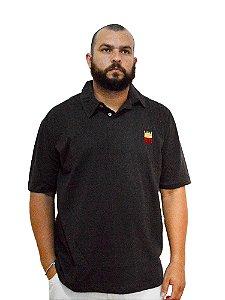 Camisa Polo Plus Size Masculina Bigmen Chumbo