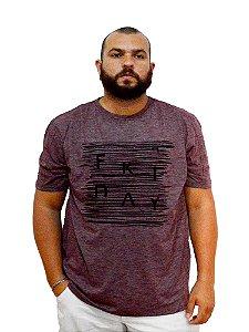 Camiseta Plus Size Masculina Austin Life Friday Vermelha