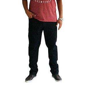 Calça Masculina Plus Size Jeans Básica Azul Escura