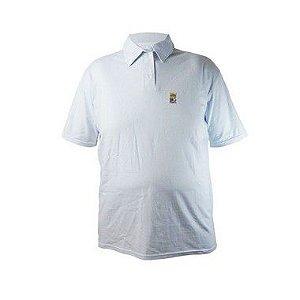 Camisa Polo Plus Size Masculina Modelo Bigmen Branca Bigmen