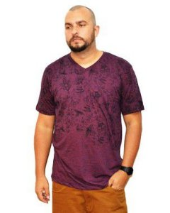 Camiseta Plus Size Masculina Air Waves Lilás