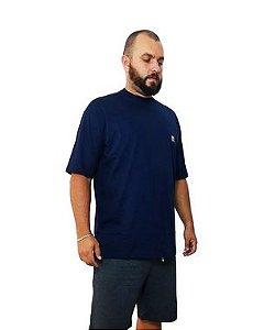 Camiseta Plus Size Masculina Bigmen Azul