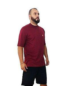 Camiseta Plus Size Masculina Bigmen Vinho