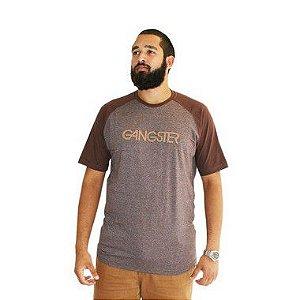 Camiseta Masculina Plus Size New York Marrom