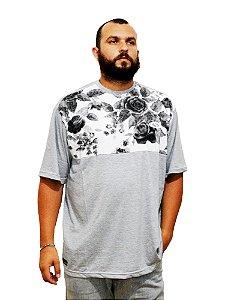 Camiseta Plus Size Masculina Cinza Florida
