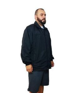 Jaqueta Corta Vento Plus Size Masculina Bigmen Preta