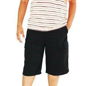 804381d1a Bermuda Masculina Plus Size Cós Elástico Preta