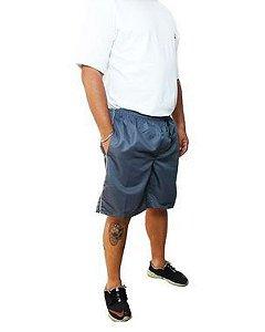 Bermuda Masculina Plus Size Cós Elástico Tactel Volver Cinza