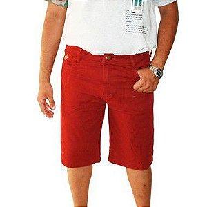 Bermuda Masculina Plus Size Jeans Gangster Vinho