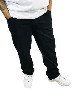 Calça Masculina Plus Size Colors Preta