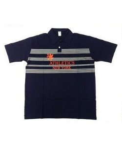 Camisa Polo BigMen Plus Size Masculina New York Azul Escuro