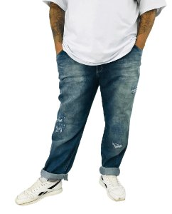 Calça Jeans Destroyed Plus Size Masculina Bigmen