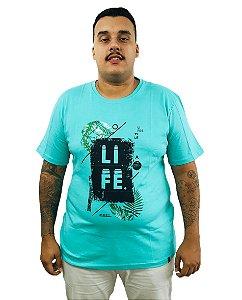 Camiseta Plus Size Masculina Air Waves Life Verde