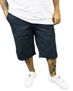 Bermuda Masculina Plus Size Jeans Gangster Azul Escuro