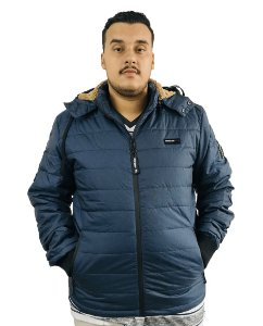 Jaqueta Plus Size Masculina Gangster Azul