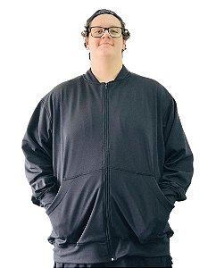 Blusa de Moletom Plus Size Masculina Preta Bigmen