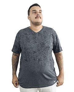 Camiseta Plus Size Masculina Air Waves Cinza