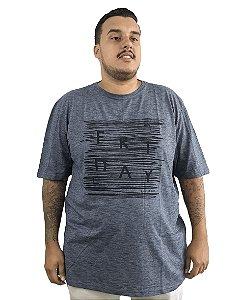 Camiseta Plus Size Masculina Austin Life Friday Azul