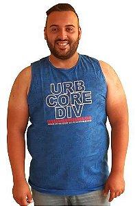 Camiseta Regata Plus Size Masculina Urban Core Azul Bigmen