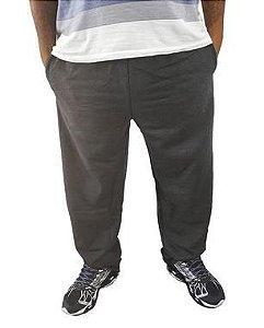 Calça Plus Size Masculina Moletom BigMen Cinza  M06