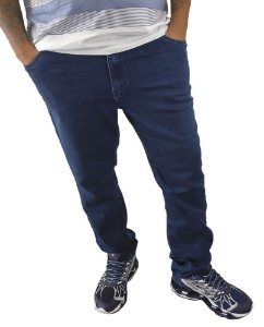 Calça Masculina Plus Size Jeans Skinny Azul  F05/06