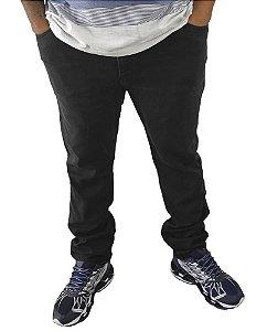 Calça Masculina Plus Size Jeans Skinny Preta