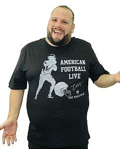 Camiseta Plus Size Masculina Austin Life American Football P