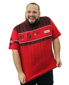 Camiseta Plus Size Masculina Gangster NY Vermelha