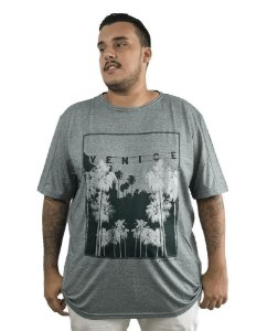 Camiseta Plus Size Masculina Austin Life Venice Verde