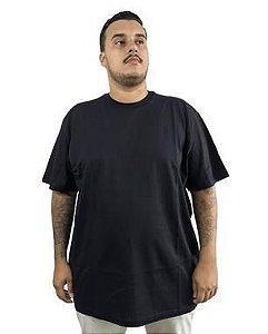 Camiseta Plus Size Masculina Bigmen Lisa Preta